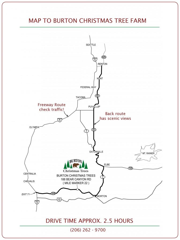 Burton Christmas Tree Farm Map